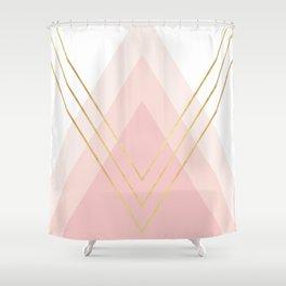 Geometric and modern art XIV Shower Curtain