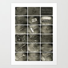 Dad used to make things Art Print