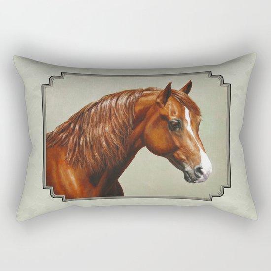 Chestnut Morgan Horse Rectangular Pillow