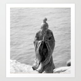 Sculpture_The prayer Art Print