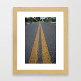 Lonely Road Framed Art Print