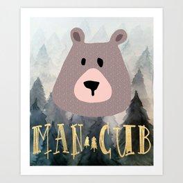 Man Cub Nursery Print Art Print