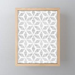 Striped Stars Framed Mini Art Print
