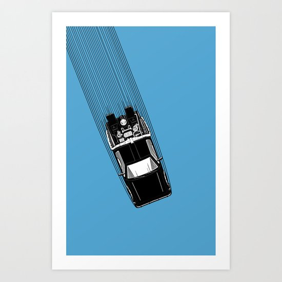 Back To The Future - DeLorean Art Print