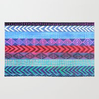 peru Area & Throw Rugs featuring PATTERN {Peru Stripe} by Schatzi Brown