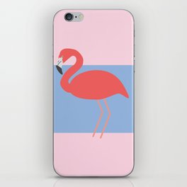 Flamingo -the pink lady iPhone Skin