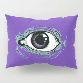 """I See You"" Purple Pattern Pillow Sham"