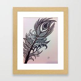 zen feather Framed Art Print