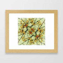 Floral Motif Print Pattern Collage Framed Art Print