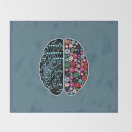 Brain Throw Blanket