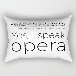 I speak opera (baritone) Rectangular Pillow