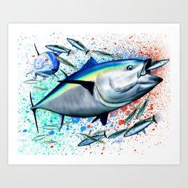 Bluefin Blitz - Bluefin Tuna Art Print