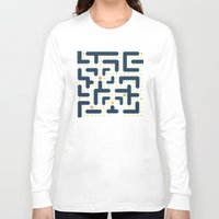 pacman Long Sleeve T-shirts featuring RETRO GAME by Vickn