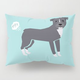 pitbull farting dog cute funny dog gifts pure breed dogs Pillow Sham
