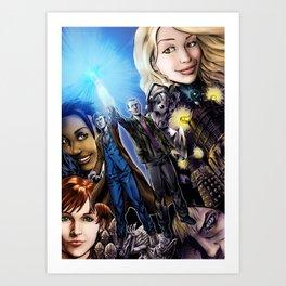 The last blue sonic flashes Art Print