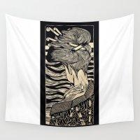 geisha Wall Tapestries featuring Geisha by Mario Sayavedra