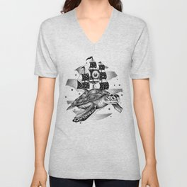 SAILING THROUGH THE UNIVERSE Unisex V-Neck