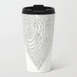 Coded heartprint Travel Mug