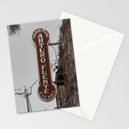 Vintage Neon Arturo Fuente Sign Ybor City Florida Stationery Cards