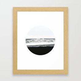 Black Sand Circular Landscape Framed Art Print