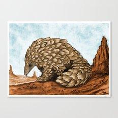 The Golden Pangolin Canvas Print