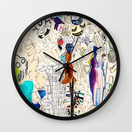 Collage 41 Wall Clock