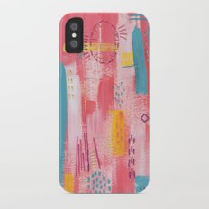 Pink Abstract Slim Case iPhone X