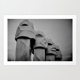 Chimney stacks, Barcelona. Art Print