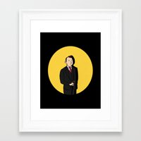tintin Framed Art Prints featuring Tintin style Mycroft by thediogenes