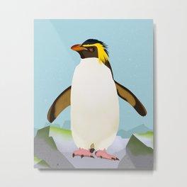 Rockhopper Penguin Metal Print