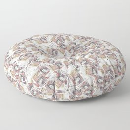 Giant money background 50 pound notes / 3D render of thousands of 50 pound notes Floor Pillow
