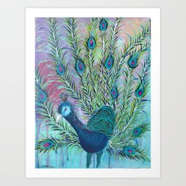 Tail of the Peacock Art Print
