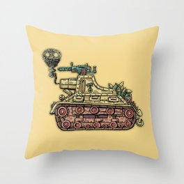 African desert corps tank WWII Throw Pillow