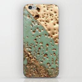 Melting Gold - Encaustic painting on stone iPhone Skin