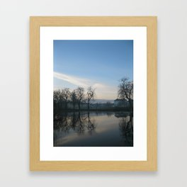 Winter Ripple Framed Art Print