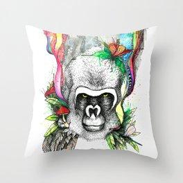 Gorilla Flow Throw Pillow