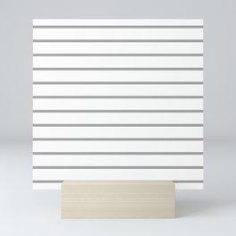 Gray and White Breton Stripes Mini Art Print