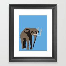 Angry Elephant Framed Art Print