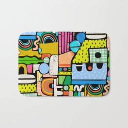 Color Block Collage Bath Mat