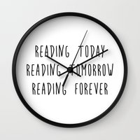reading Wall Clocks featuring Reading by IA Apparel