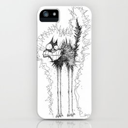 Electrocuted Cat by Carine-M iPhone Case