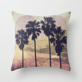 Heart and Palms Throw Pillow