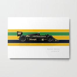 Ayrton Senna - Lotus 98T Metal Print