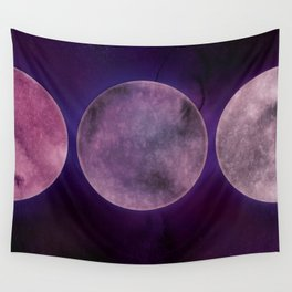 Purple Moon Phase Wall Tapestry