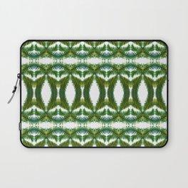 Palm Leaf Kaleidoscope (on white) #2 Laptop Sleeve