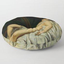 """Gustave Courbet """"Sleeping Nude"""" Floor Pillow"""