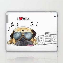 I love music-rock pug Laptop & iPad Skin