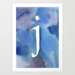 j watercolor Art Print