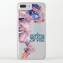 BARACK OBAMA Clear iPhone Case