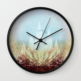 TREES under MAGIC MOUNTAINS VI-A Wall Clock